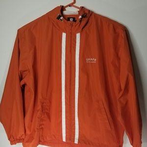 Chaps Ralph Lauren Mens Orange/Wh Windbreaker XL
